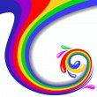 Colorful swirl vector illustration - Stock Vector