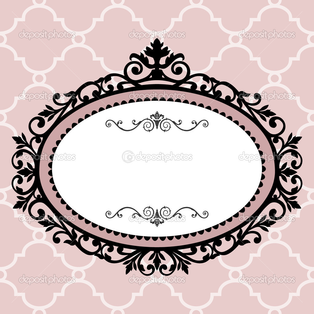 Decorative pink frame on the retro background with space for your text, full scalable vector graphic for easy editing and color change  Stock Vector #4135080