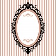 Decorative oval vintage frame — Stock Vector #4209489
