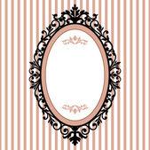 Decorative oval vintage frame — Stock Vector