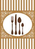Menu of restaurant card, vector illustration — Stock Vector