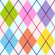 Vector colorful argyle pattern — Stock Vector #4223751
