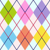 Vector colorful argyle pattern — Stock Vector