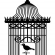 Vintage birdcage - Stockvektor