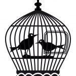 Birdcage silhouette — Stock Vector