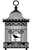 Vintage vogelkooi — Stockvector