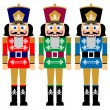 Set of christmas nutcracker — Stock Vector