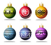 Christmas balls and ornaments — Stock Vector