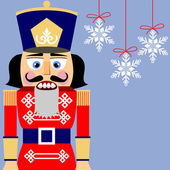 Nutcracker background — Stock Vector