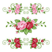 Roses banners collection — Stock Vector