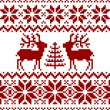Christmas norwegian pattern - Stock Vector
