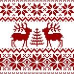 Weihnachten Norwegermuster — Stockvektor