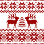 Christmas norwegian pattern — Stock Vector