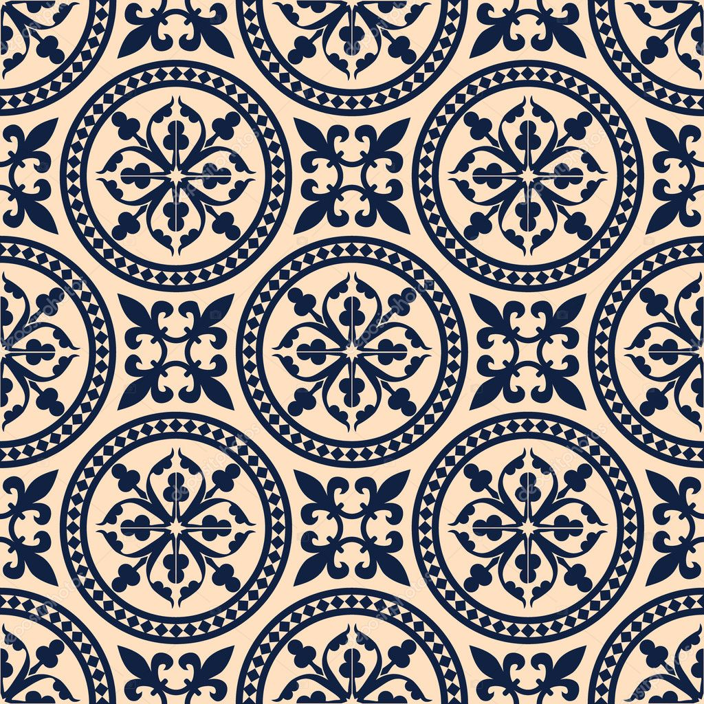 Tapeten Orientalische Muster : Antique Seamless Pattern Designs