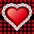 Royalty-Free Stock Imagen vectorial: Red lace heart