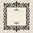 Stock Vector: Decorative vintage frame