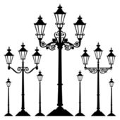 Vector retro street light — Stock Vector