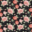Royalty-Free Stock Vector Image: Roses seamless pattern