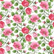 Seamless roses pattern - 图库矢量图片