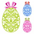 Easter ornaments eggs - Stock Vector
