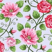 Romantic roses seamless pattern — Stock Vector