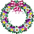 Spring wreath - Stock Vector