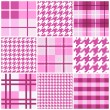 Stock Vector: Pink seamless pattern collection