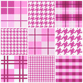 Pink seamless pattern collection — Stock Vector
