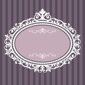Decorative oval vintage frame — Vector de stock