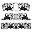 Antique heraldic ornaments - Stock Vector