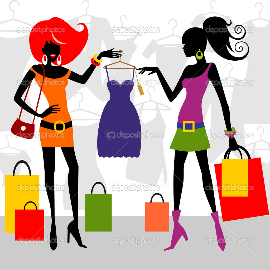 free clipart clothes shopping - photo #32