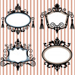 Set of decorative vector frames - Stock Vector