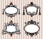 Set of decorative vector frames — Stock Vector