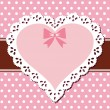 Lace pink heart — Stock Vector