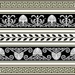 Stock Vector: Set of antique borders