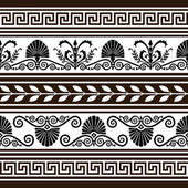 Set of antique borders and elements — Stock Vector