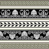 Set of antique borders — Stock Vector