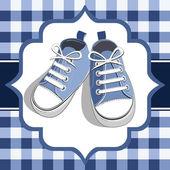 Blue kids sneaker — Stock Vector