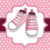 Pink kids sneaker — Stock Vector
