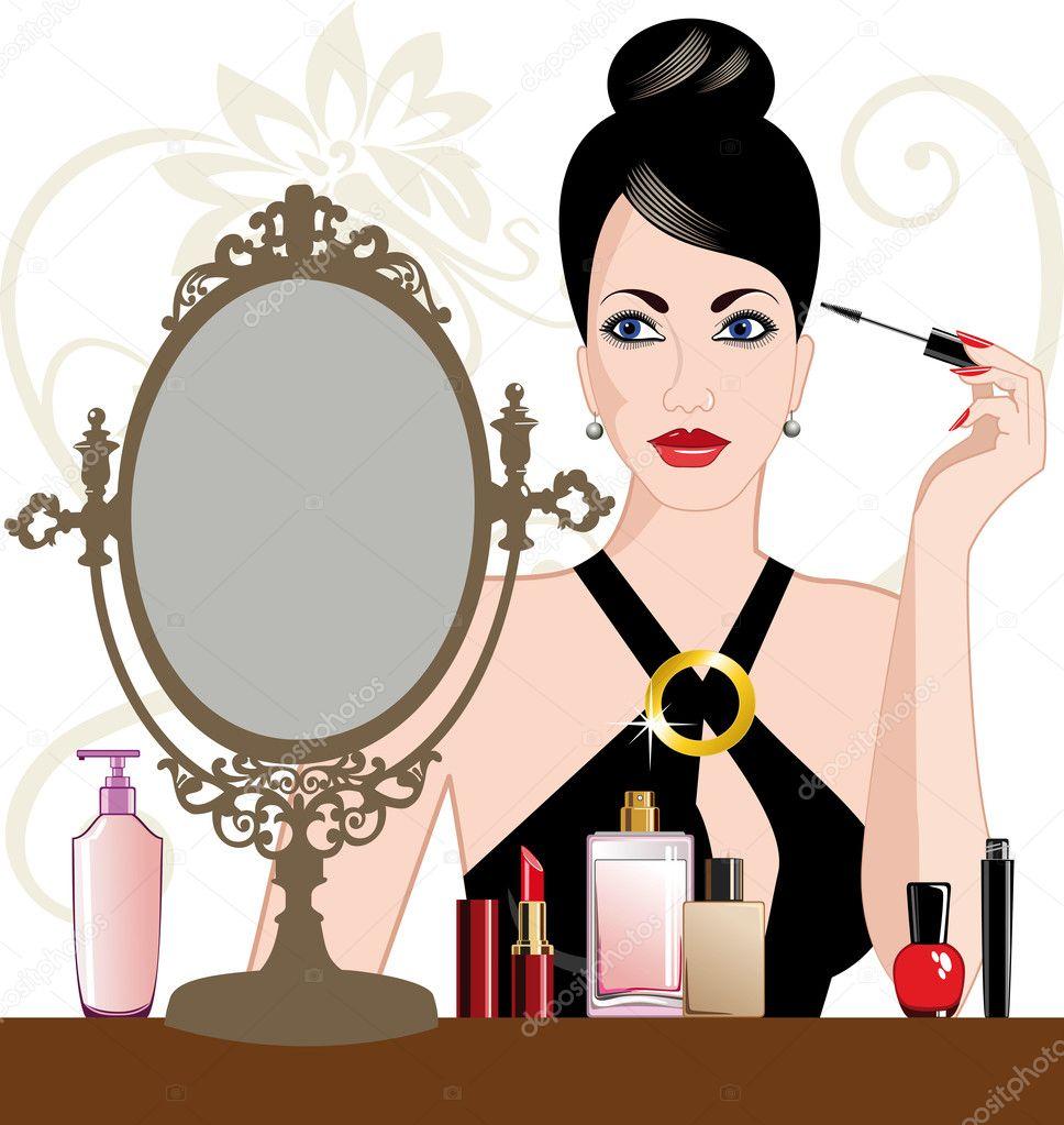 Анимационные картинки макияж