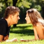 Argument mladého páru — Stock fotografie