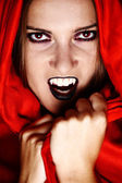 Vampire in red — Stock Photo