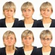 Useful facial expressions - Stock Photo