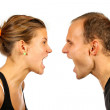 Couple screaming — Stock Photo #3974091
