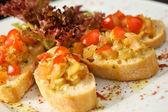 Bruschetta bread — Stock Photo