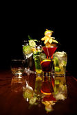 Drinks on the bar — Stock Photo