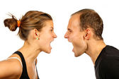 Couple screaming — Stock Photo