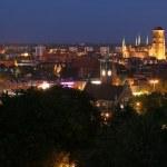 Gdansk panorama by night — Stock Photo #4002133