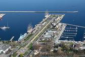 Gdynia city port — Stock Photo