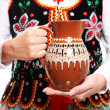Royalty-Free Stock Photo: Polish outfit and the jug